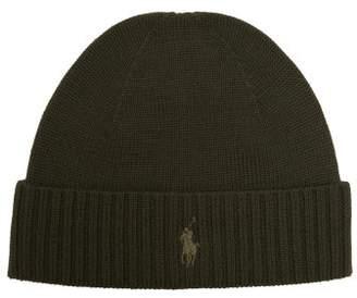 Polo Ralph Lauren Logo Embroidered Merino Wool Beanie Hat - Mens - Green