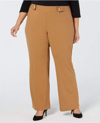 INC International Concepts I.n.c. Plus & Petite Plus Size Grommet-Detail Wide-Leg Pants