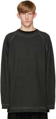 Off-White Black Garment-Dye Pullover $405 thestylecure.com
