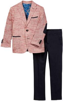 Isaac Mizrahi Two Piece Linen Blend Tonal Suit (Toddler, Little Boys, & Big Boys)
