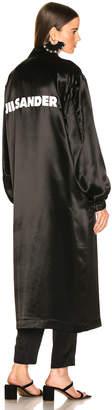 Jil Sander Logo Robe in Black | FWRD