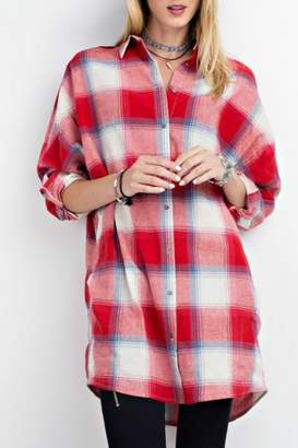 Easel Red Plaid Shirt