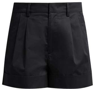 Etoile Isabel Marant Olbia Cotton Poplin Turn Up Shorts - Womens - Black
