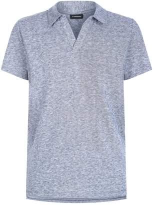 J. Lindeberg Cotton-Linen Polo Shirt