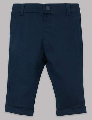 Marks and Spencer Cotton Chinos with Stretch