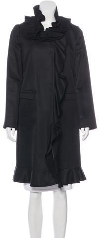 pradaPrada Wool Ruffled Coat
