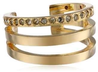 Paige Novick PHUN by Three Row Half Finger Gold Ring