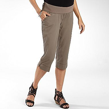 JCPenney duoTM Maternity Twill Casual Capris