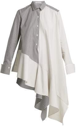 Palmer Harding PALMER/HARDING Contrast-panel striped cotton shirt