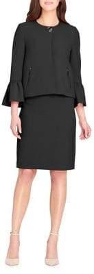 Tahari Arthur S. Levine Trumpet Sleeve Skirt Suit
