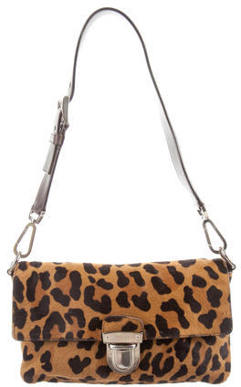 prada Prada Ponyhair Leopardo Shoulder Bag