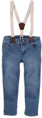 Osh Kosh Oshkosh Bgosh Toddler Girl Sparkle Suspender Jeans