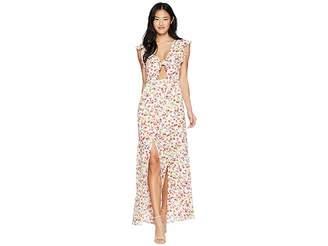 BB Dakota Brylee Wild Poppies Printed Maxi Dress Women's Dress