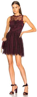 Jonathan Simkhai Grommet Lariat Lace Mini Dress