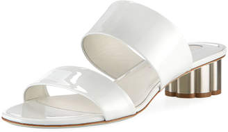 Salvatore Ferragamo Patent Two-Band Sandal