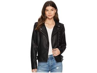 Members Only PU Moto Jacket Women's Coat