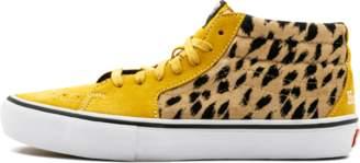 Vans Sk8 - Mid Pro (Supreme) - 'Supreme' - (Supreme Cheetah Velvet) Yellow