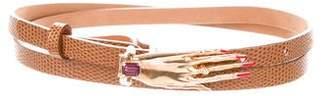 DSQUARED2 Hand-Embellished Buckle Belt
