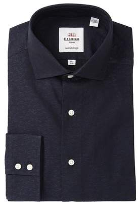 Ben Sherman Floral Jacquard Slim Fit Dress Shirt