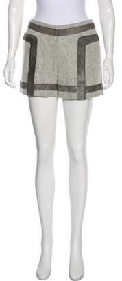 Rag & Bone Leather-Paneled Wool Shorts