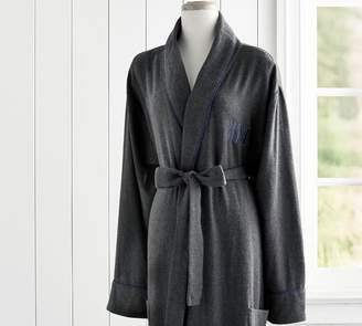 Pottery Barn Vincent Men's Flannel Robe