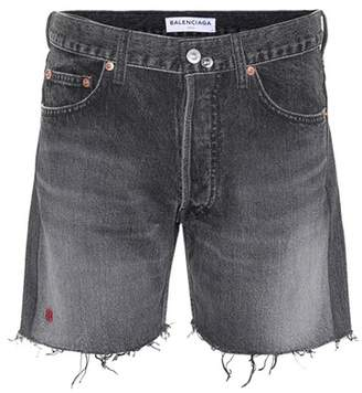 Balenciaga Cut-off denim shorts