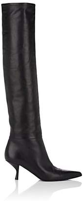 The Row Women's Bourgeoise Leather Knee Boots