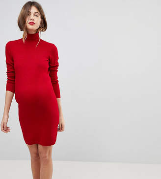 Mama.licious Mamalicious Knitted Roll Neck Dress