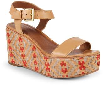 Frye Heather Woven Leather Wedge Sandals