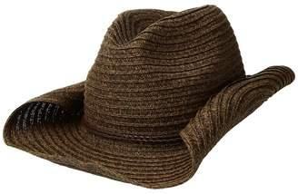 San Diego Hat Company PBC2443OS Paperbraid Cowboy w/ Double Braid Trim Caps
