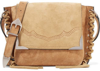 Isabel Marant Kleny Whipstitched Two-tone Suede Shoulder Bag - Tan