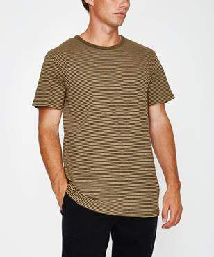rhythm Everyday Stripe Short Sleeve T-shirt Vintage Olive