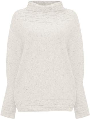 Next Womens Phase Eight Grey Corine Cable Knit Jumper
