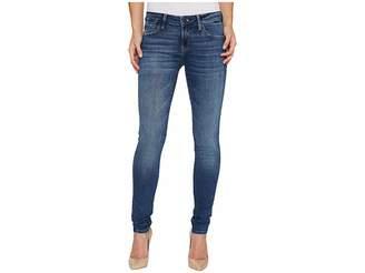 Mavi Jeans Adriana Mid-Rise Super Skinny in Dark Used Gold Vintage Women's Jeans