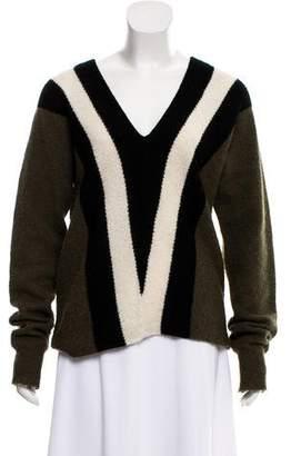 A.L.C. V-Neck Tricolor Sweater