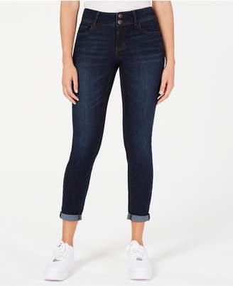 Vanilla Star Juniors' Cuffed Skinny Ankle Jeans