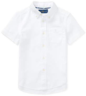 Ralph Lauren Short-Sleeve Performance Oxford Shirt, Size 2-4T