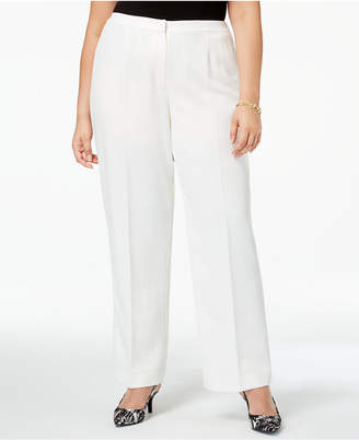 d3abdb384eb Kasper Plus Size Straight-Leg Crepe Pants
