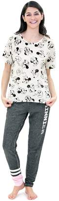 Disney Disney's Minnie Mouse Juniors' Pajamas: Short Sleeve Tee & Pants PJ Set