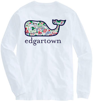 Vineyard Vines Edgartown Long-Sleeve Whale Christmas Icon T-Shirt