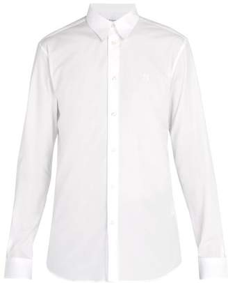 Givenchy Logo Embroidered Cotton Shirt - Mens - White