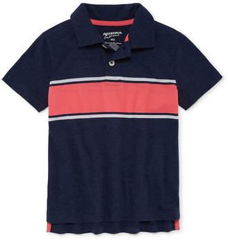 Arizona Short Sleeve Stripe Knit Polo Shirt Boys