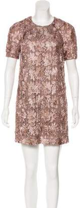 Burberry Embroidered Mini Dress