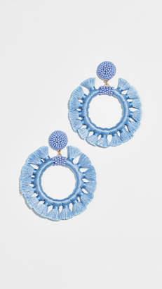 BaubleBar Tassel Hoop Earrings