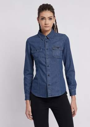 Emporio Armani Light Stretch Cotton Denim Shirt