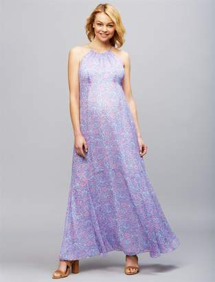 A Pea in the Pod Floral Print Maternity Maxi Dress