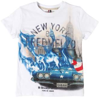 Fred Mello New York Printed Cotton Jersey T-Shirt