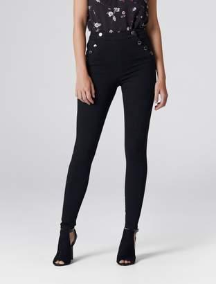 Forever New Heidi High-Waist Ankle Grazer Jeans - Black. - 4