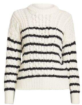 Loewe Stripe Wool Cable Knit Sweater