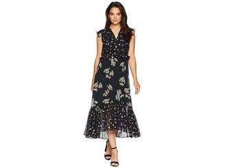 Taylor Mixed Print Ruffle Chiffon Maxi Dress Women's Dress